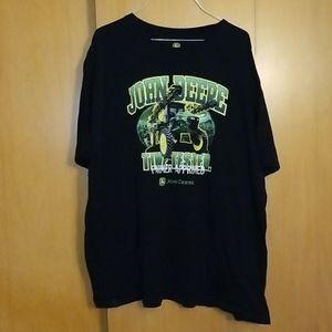 🧔Mens John Deere Sprayer Black Tshirt XXL